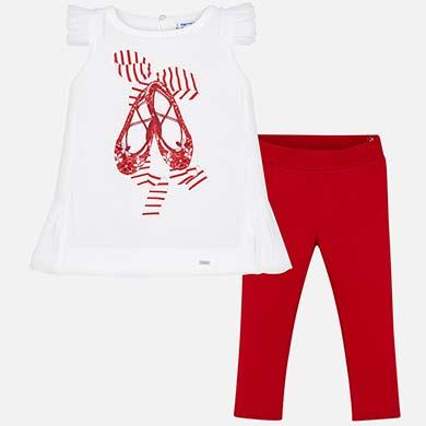 bfbbb88e7a Conjunto camiseta y pantalón largo ballet niña