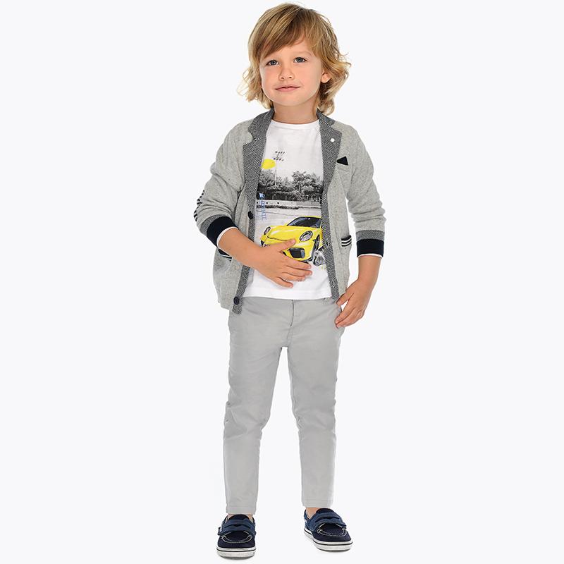 Pantalone modello chino cordoncino slim fit bambino Marmo