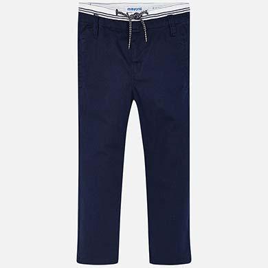 ca9bf271b Pantalón largo chino cordón slim fit niño