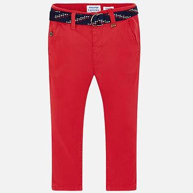 b3fbff549f Pantalón chino largo con cinturón slim fit niño