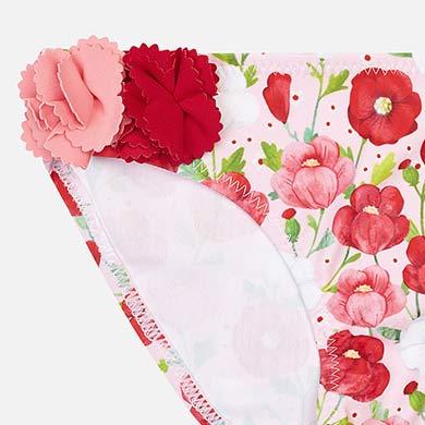 36a37205da0 Σετ μαγιό λεπτομέρειες λουλούδια κορίτσι Κόκκινο - Mayoral