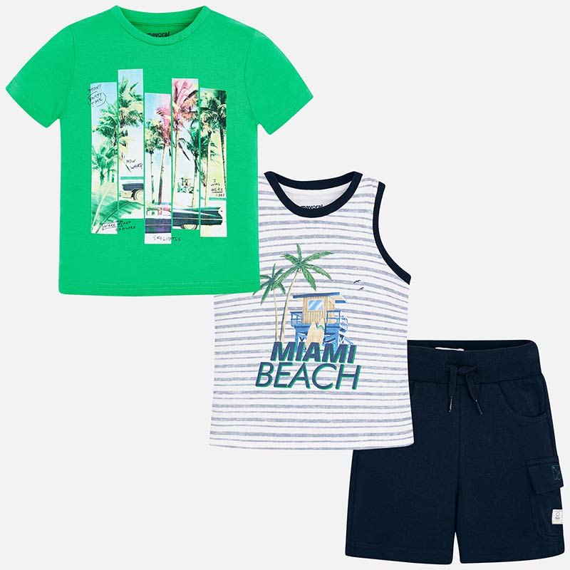 Miami beach combinable set for boy Seaweed - Mayoral