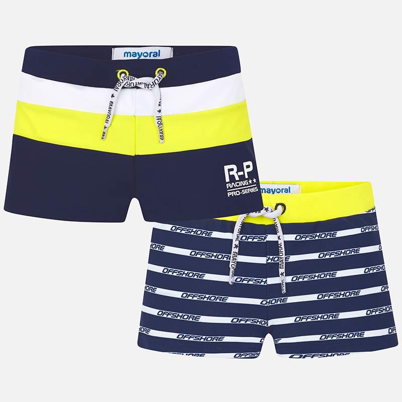 9f17eb382e1 Short striped swim shorts set for boy Navy blue - Mayoral