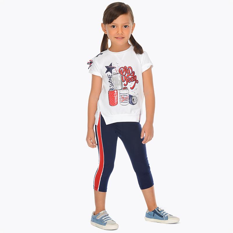 2e5703c01 Conjunto camisola e leggings faixas laterais menina Marinho - Mayoral