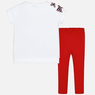 45bbf83afc40 Σετ μπλούζα και κολάν λωρίδες στο πλάι κορίτσι Κόκκινο - Mayoral