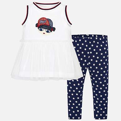 7751fc1b00777 T-shirt and star print leggings set for girl