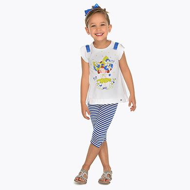 0dafe2bb2 Conjunto camiseta y leggings muñeca niña