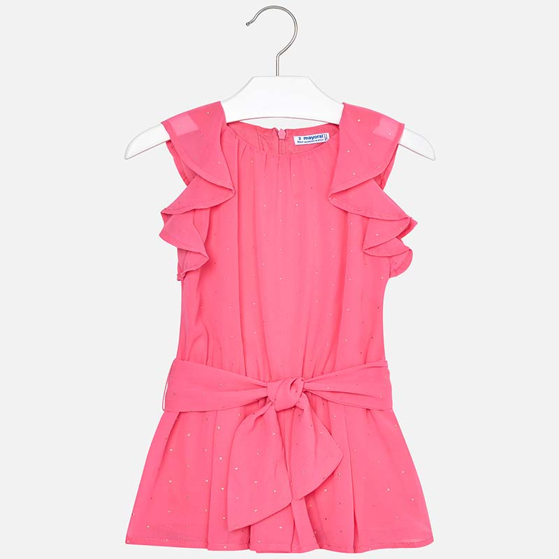 874b422f8e Chiffon playsuit with studs for girl Bubblegum - Mayoral