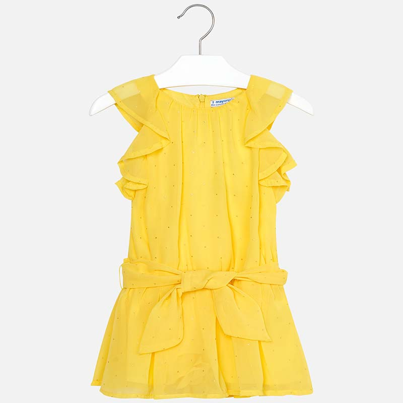 dba340be61 Chiffon playsuit with studs for girl Yellow - Mayoral