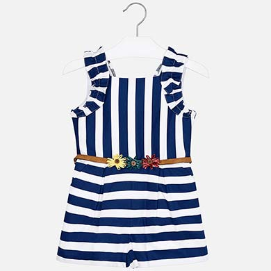 44ade32fe0 Striped playsuit with belt for girl Nautical - Mayoral