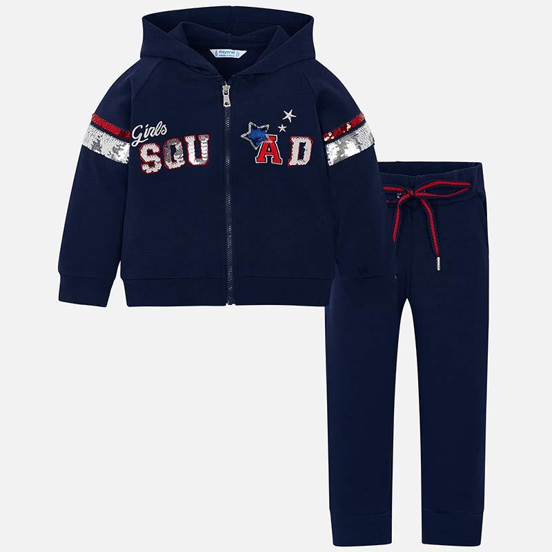 9192fa55897 Φόρμα πούλιες SQUAD κορίτσι Ναυτικό μπλε - Mayoral