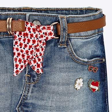 58c8b1dd40 Falda vaquera cinturón niña Tejano Básico - Mayoral