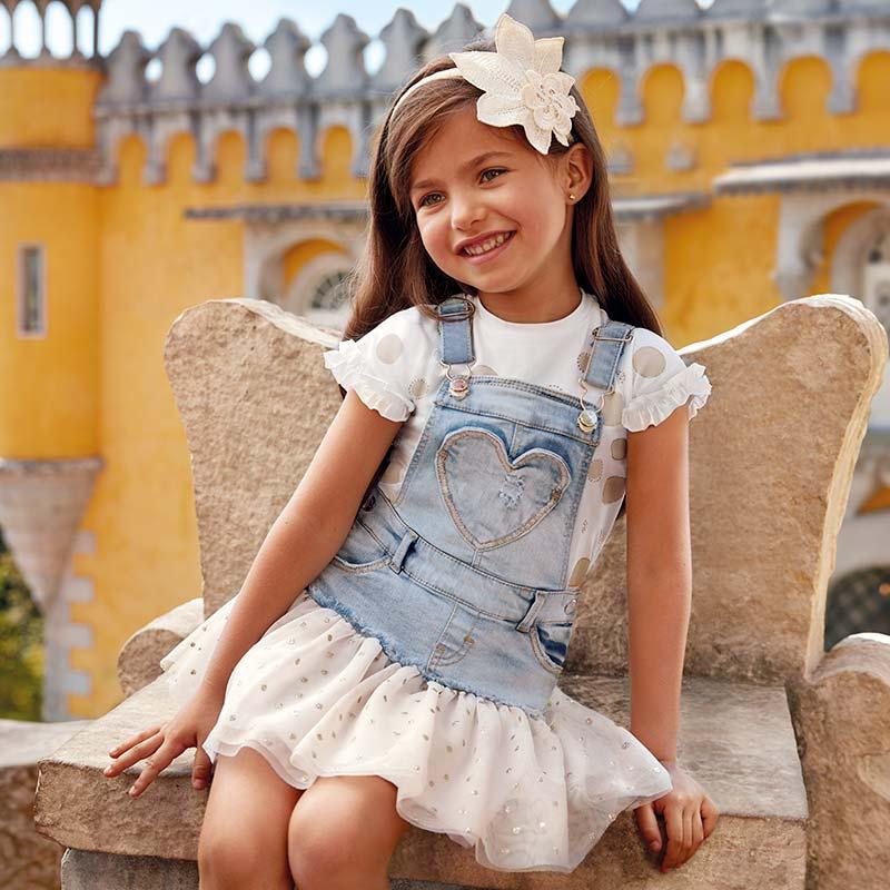 505960c443 Falda peto combinada tul niña Dorado - Mayoral