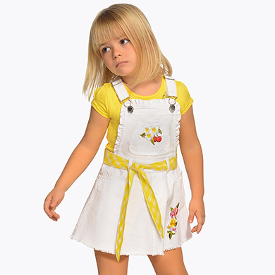 2a1a81aa0da4b2 Dungaree skirt for girl
