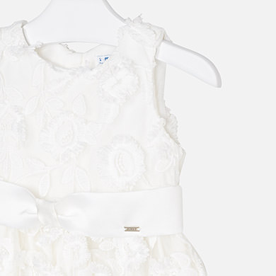 87546ad67cd8 Φόρεμα τούλι λουλούδια κορίτσι Εκρού - Mayoral