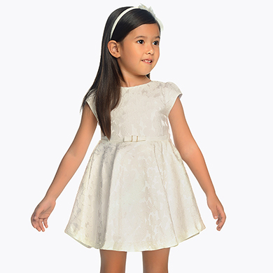 d81dc717a98 Flared dress with flower detailing for girl
