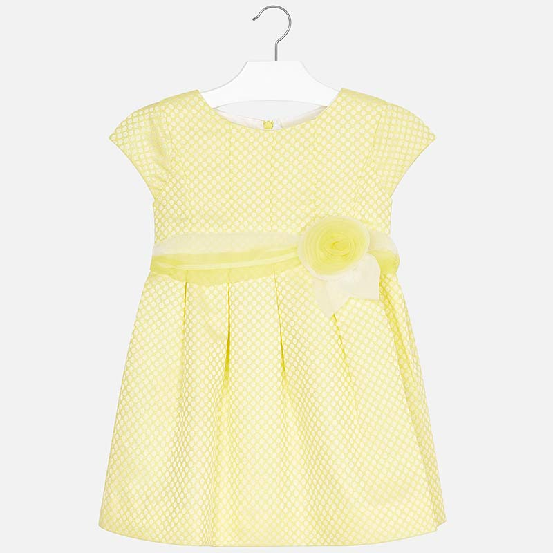 18b6a5ff50 Wizytowa sukienka w groszki dla dziewczynki Żółty - Mayoral