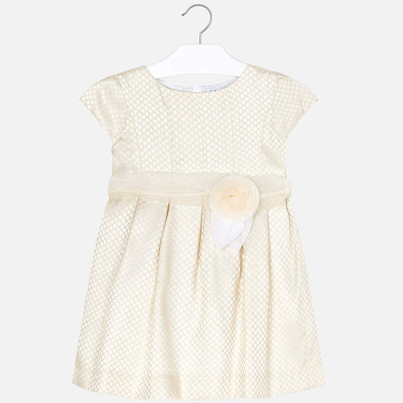 4e62ddbcf5ba Φόρεμα αμπιγιέ πουά κορίτσι mini κορίτσι Εκρού - Mayoral