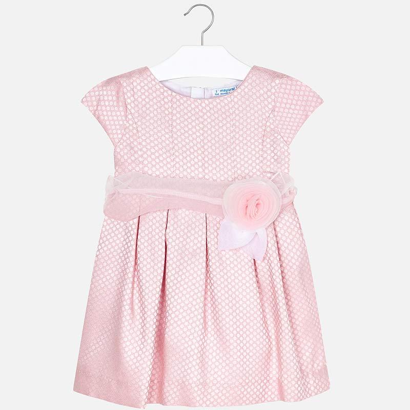 0de8facd66 Wizytowa sukienka w groszki dla dziewczynki Róż - Mayoral