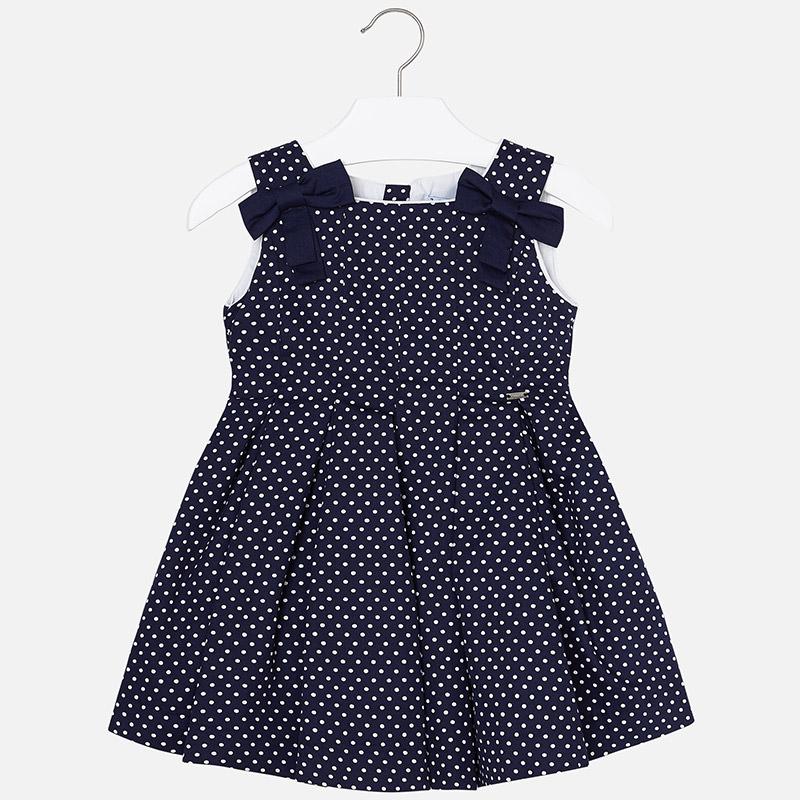 9e1018c2f4 Sukienka w groszki i kokardami dla dziewczynki Granatowy - Mayoral
