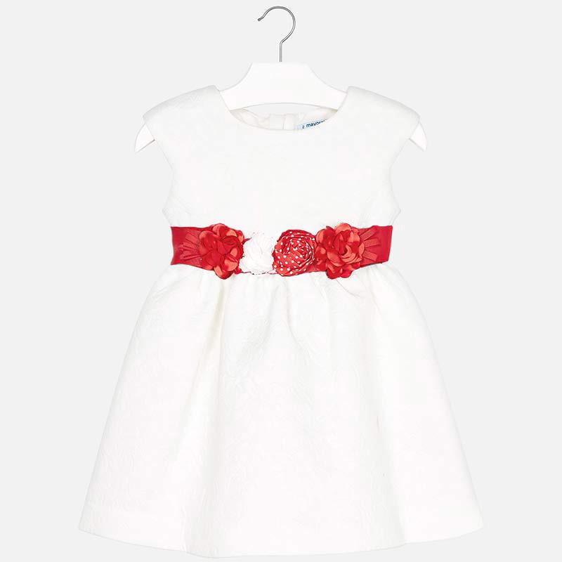 580e705e825 Φόρεμα με ζωνάκι κορίτσι Λευκό - Mayoral