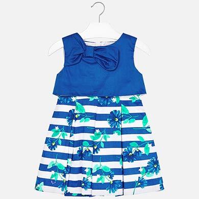 7e2b2e3ab Vestido combinado rayas con lazo niña