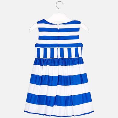 41e219e77f2c02 Sukienka w paski i kokardą dla dziewczynki Niebieski - Mayoral