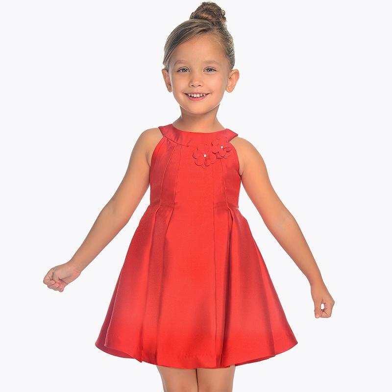 dfe110714 Vestido tirantes fiesta mini niña Rojo - Mayoral