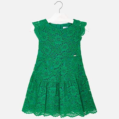 Vestido terciopelo verde nina
