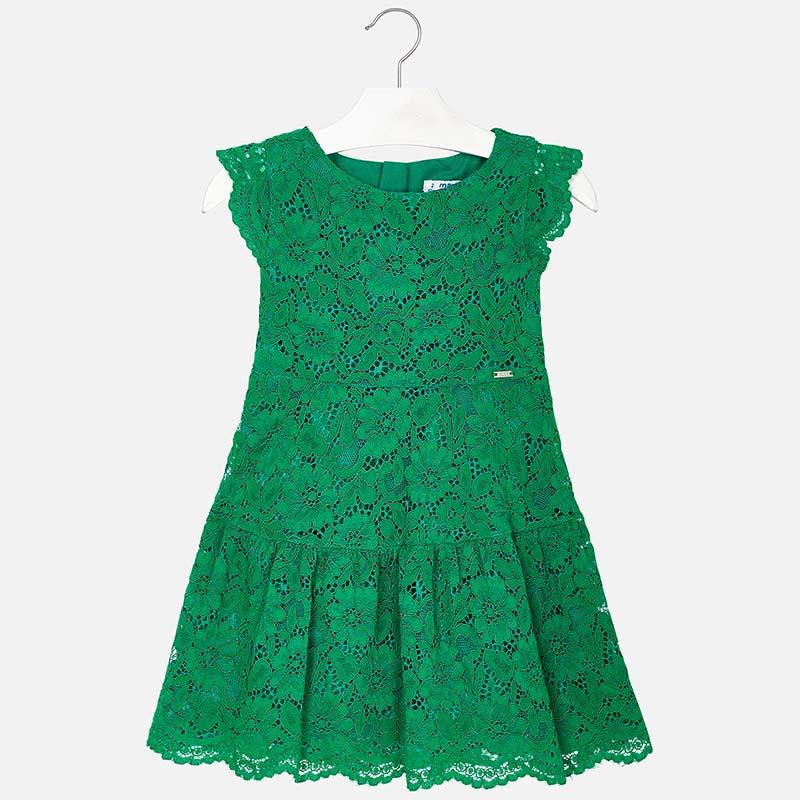 e989c538c1 Koronkowa sukienka dla dziewczynki Zielony - Mayoral