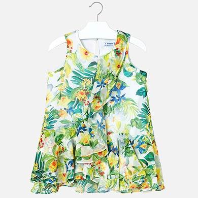 3c970c2d4 Vestido estampado tropical menina