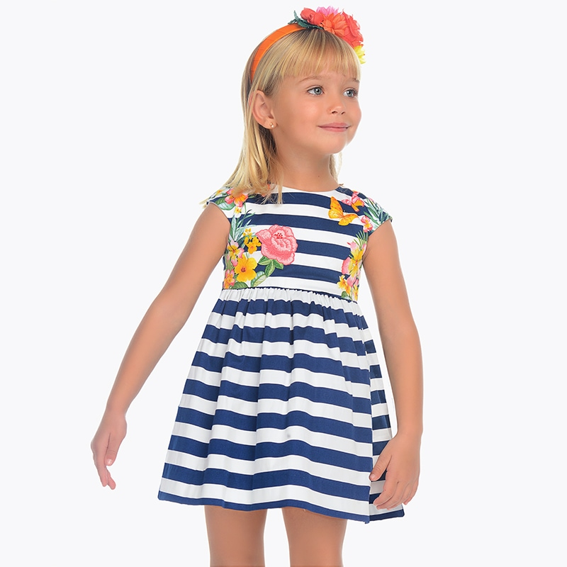 97849bd06606 Φόρεμα ριγέ κορίτσι Ναυτικό - Mayoral