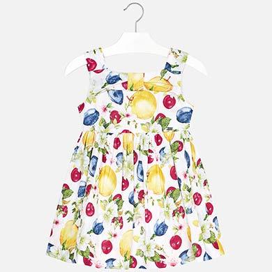 5c763d346 Vestido estampado frutas menina