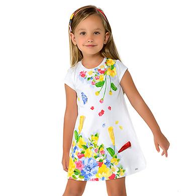 a0bb395be556 Vestido punto dibujo mini niña