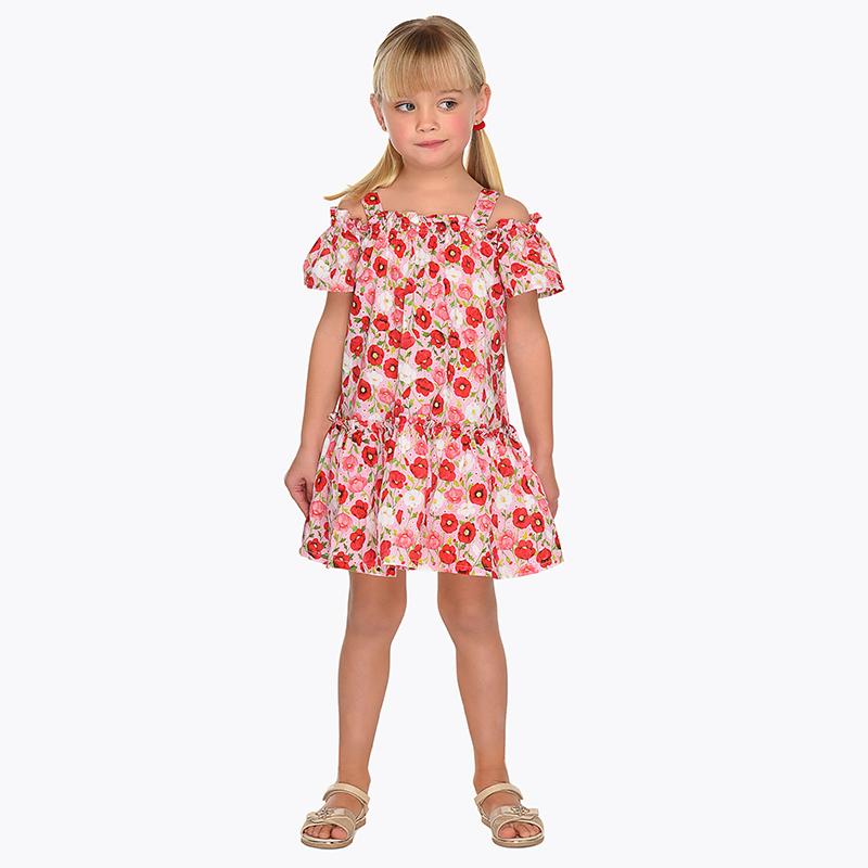 Vestido hombros descubiertos estampado niña Rojo - Mayoral 0db2b242b616