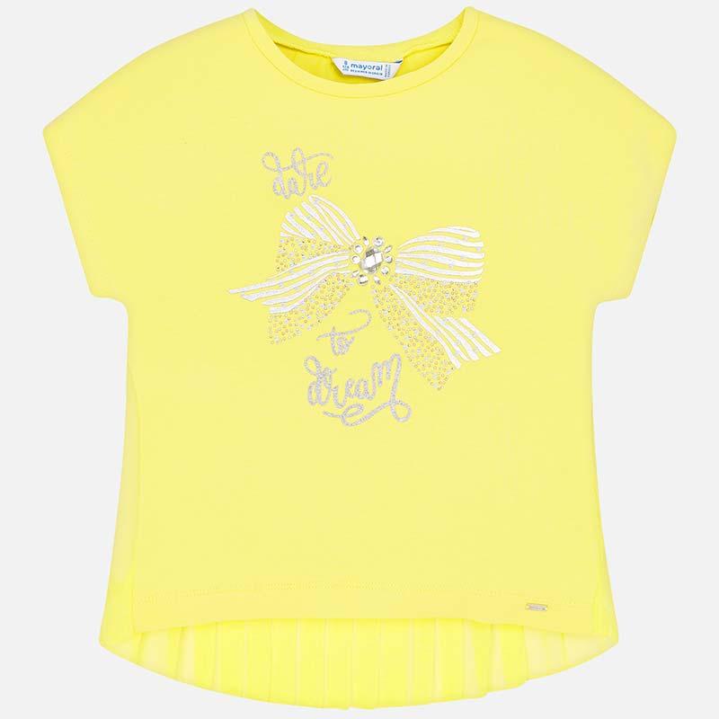 Μπλούζα κοντομάνικη φιόγκος κορίτσι Κίτρο - Mayoral 8f53f3b1f61
