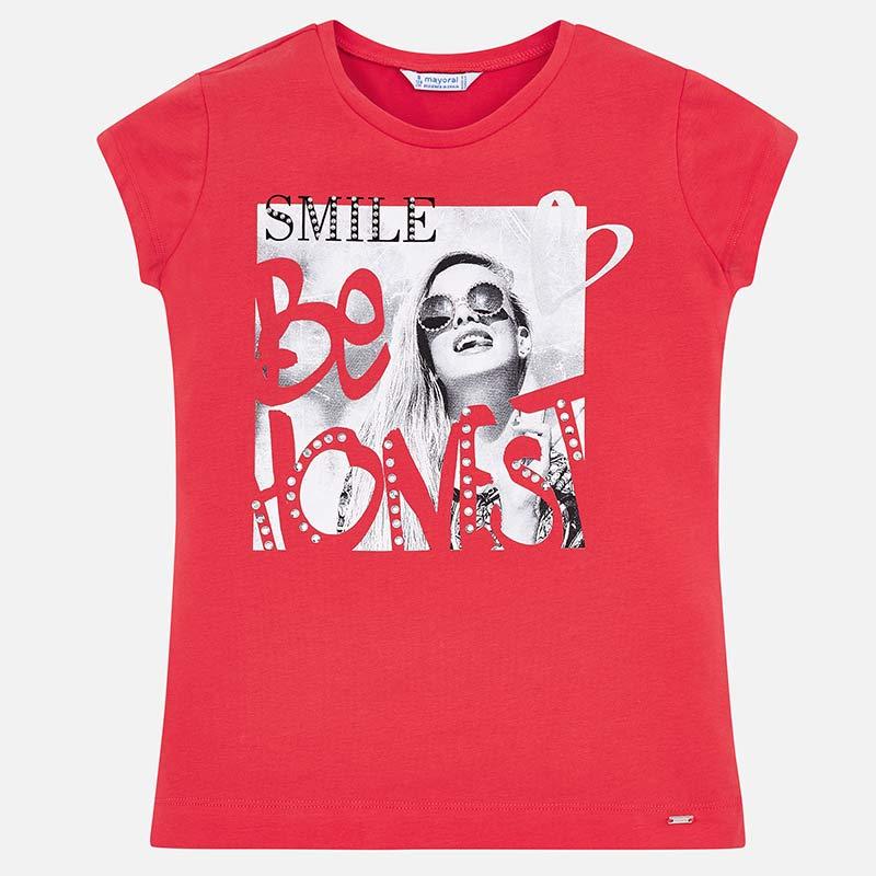 9a4b9b4d61ac Μπλούζα κοντομάνικη σχέδιο μπροστά κορίτσι Λωτός - Mayoral
