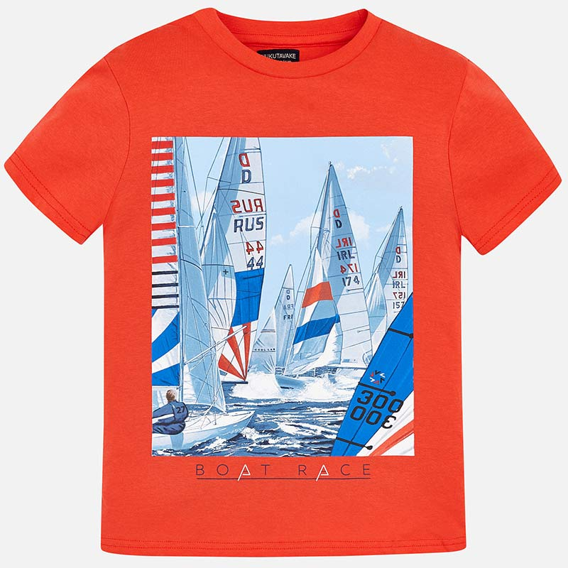 09476770e Camiseta manga corta barcos niño Cangrejo - Mayoral
