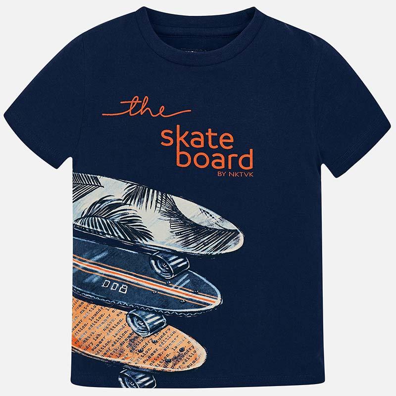 aa8c169ded Short sleeved 'skateboard' t-shirt for boy Navy blue - Mayoral