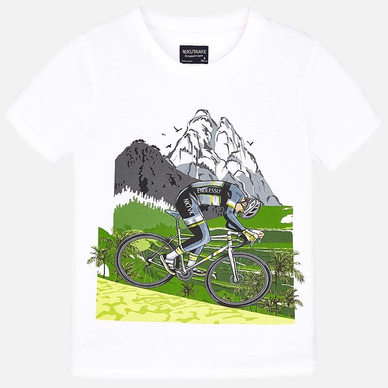 47a50a92454 Μπλούζα κοντομάνικη αγόρι Λευκό - Mayoral