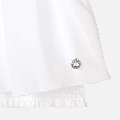 4661a3d75 Blusa cuello elástico niña Blanco - Mayoral