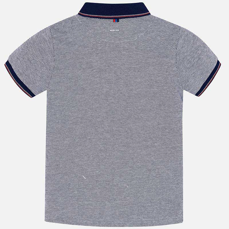 8eb879199 Short sleeved plain two-tone polo shirt for boy White - Mayoral