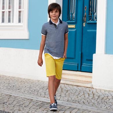 Camisa manga corta bolsillo niño b583eca634828