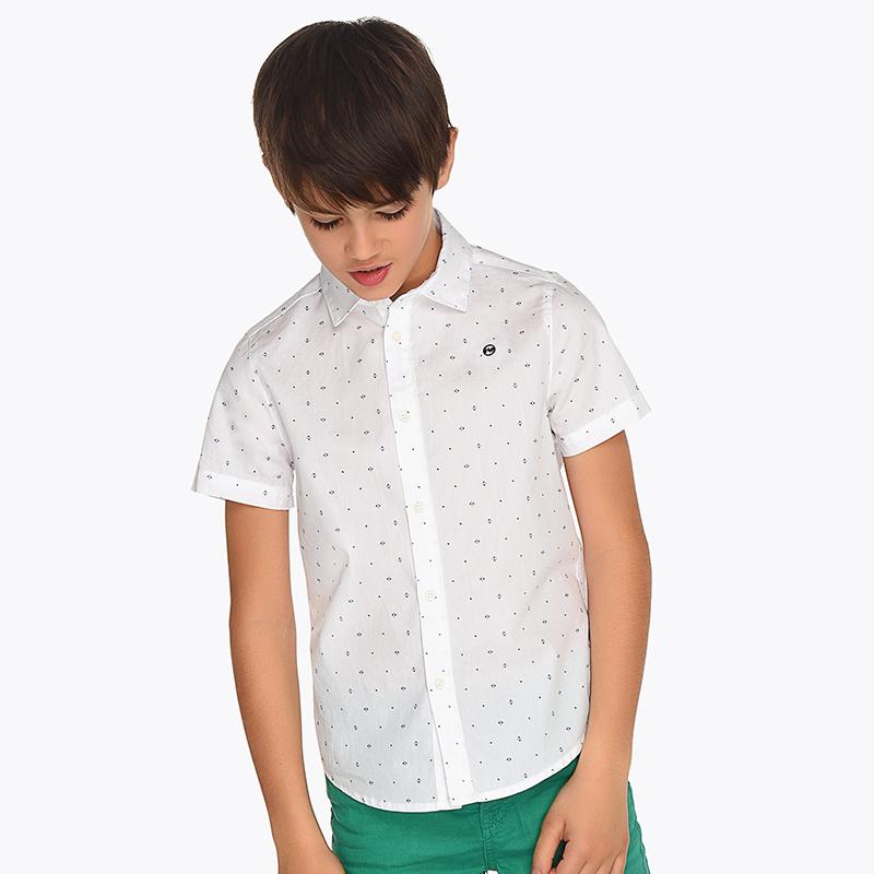 5caf108aa9b Camisa manga corta estampada niño Blanco - Mayoral