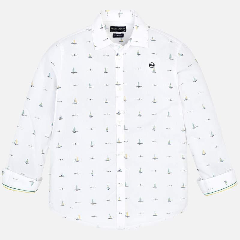 589e6b3fe Camisa manga larga estampada niño Blanco - Mayoral