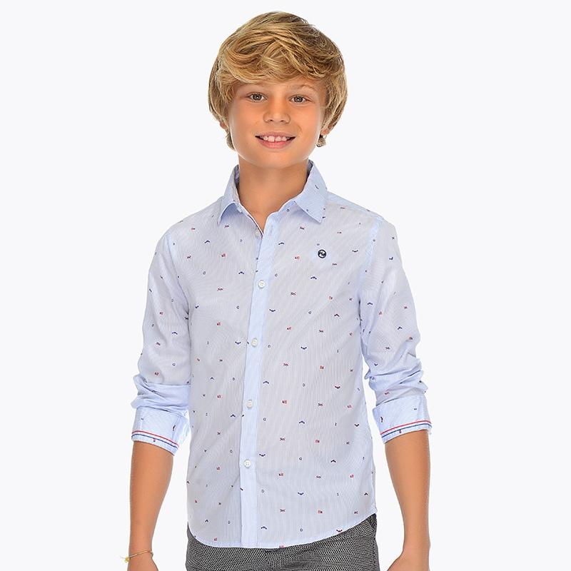 ff3feeb66 Camisa manga larga estampada niño Celeste - Mayoral