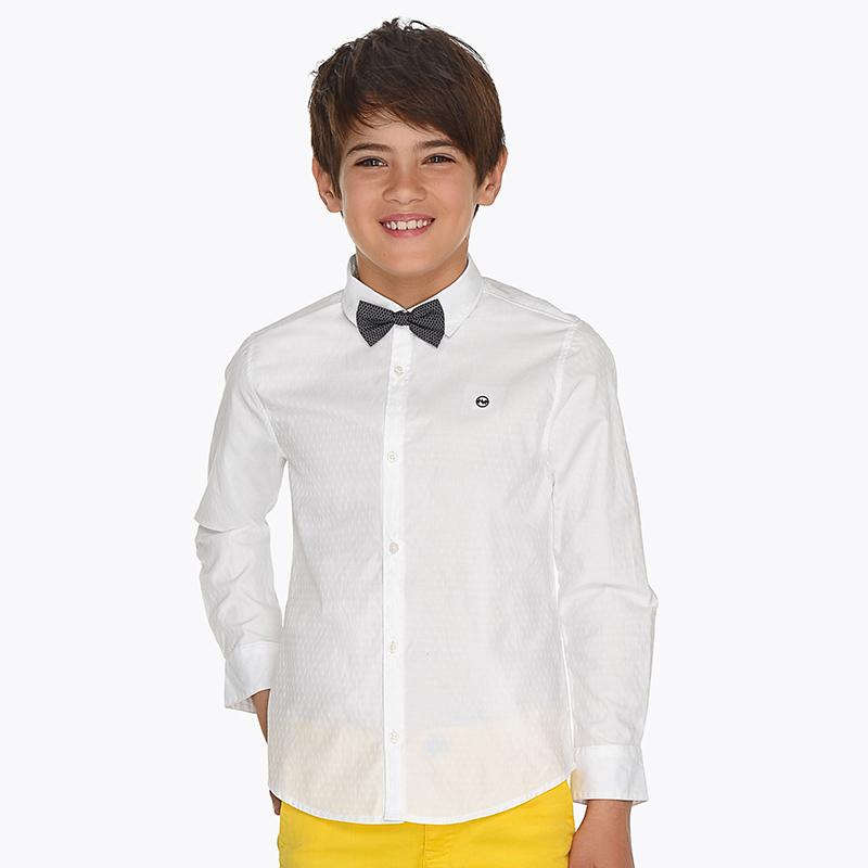 c89873ac061bb Camisa manga larga con pajarita niño
