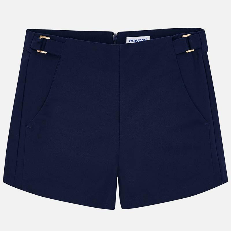 e0182060402121 Satin shorts for girl Navy blue - Mayoral