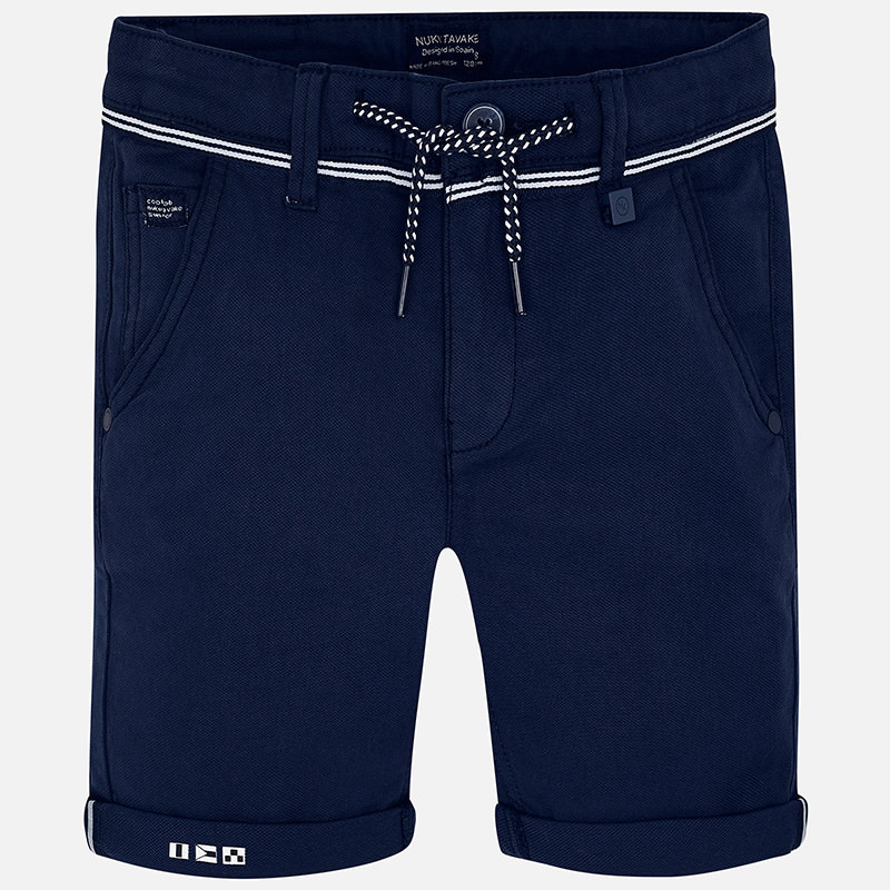 4a1796403d Bermuda shorts with drawstring for boy Navy blue - Mayoral