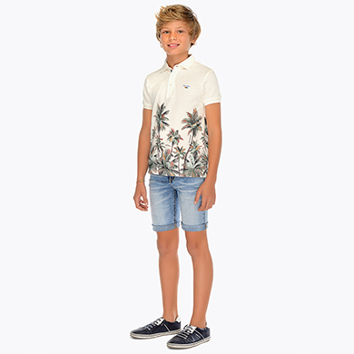 Denim bermuda shorts with 5 pockets for boy Soft Denim Mayoral
